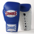 Sandee Authentic Lace Up Fight Gloves - Blue